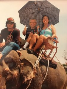2017 Elephant Riding in Thailand