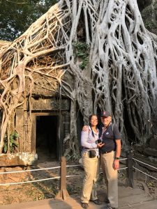 "The ""Tomb Raider Temple"" – Ta Prohm at Angkor, Siem Reap Province, Cambodia,"